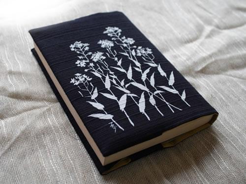 藍染ブックカバー 菜の花(ナノハナ)
