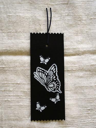 藍染抜染しおり 蝶(チョウ)