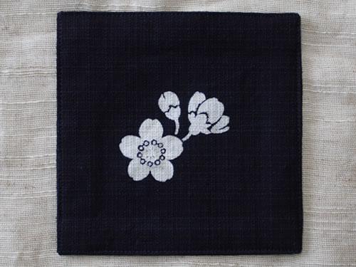 藍染コースター 桜(サクラ)