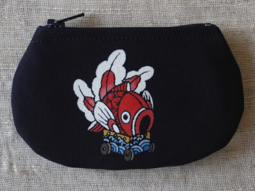 藍染コースター 金魚台輪(きんぎょだいわ)