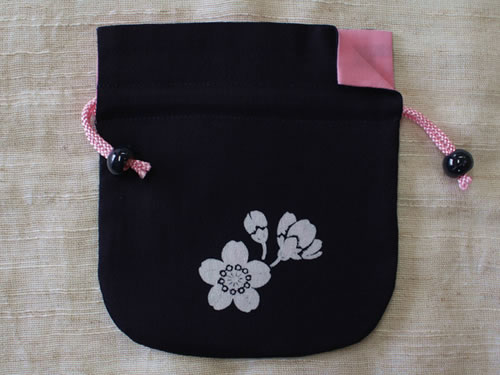 藍染巾着 桜(サクラ)