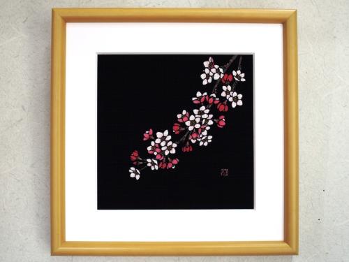 藍染額絵 桜(サクラ)