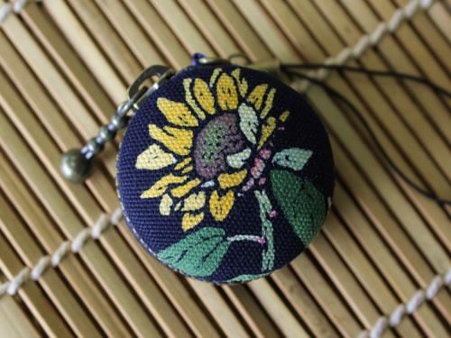 藍染マカロンコインケース 向日葵(ヒマワリ)