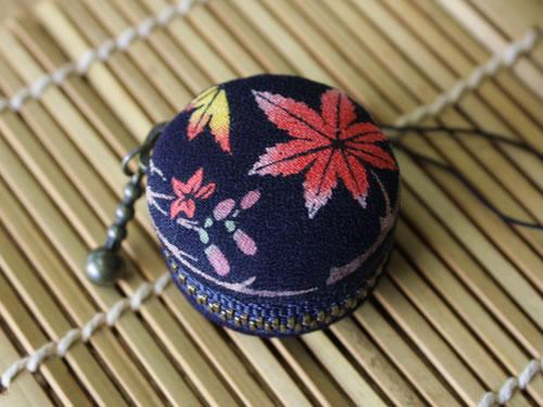 藍染マカロンコインケース 紅葉(もみじ)