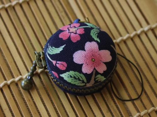 藍染マカロンコインケース 桜(サクラ)