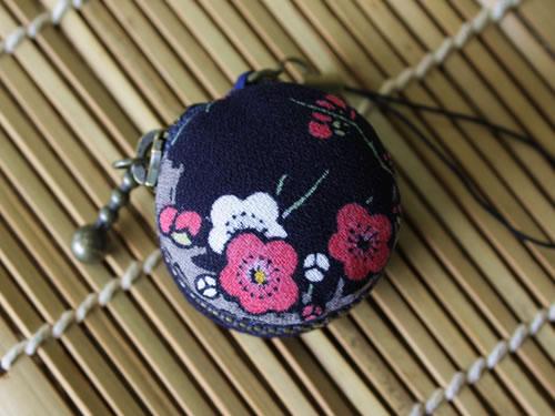 藍染マカロンコインケース 梅(ウメ)