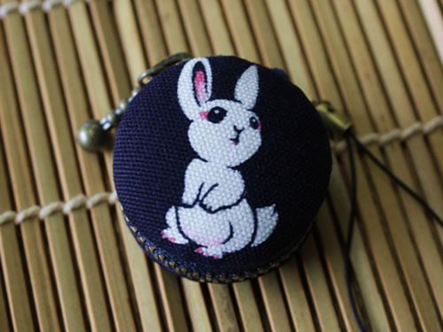 藍染マカロンコインケース ウサギ