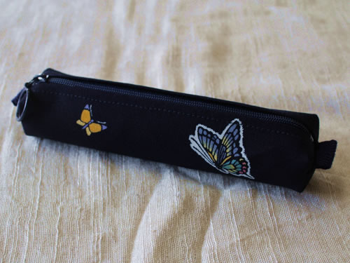 藍染ペンケース 蝶(チョウ)