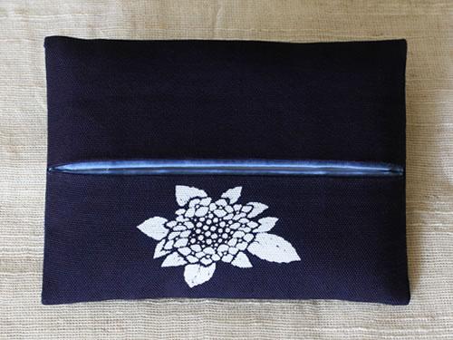藍染ティッシュケース 紫陽花(アジサイ)