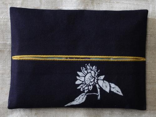 藍染ティッシュケース 向日葵(ヒマワリ)