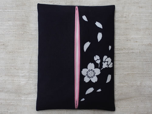藍染ティッシュケース 桜(サクラ)