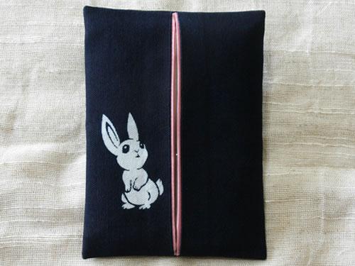 藍染ティッシュケース ウサギ