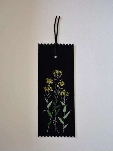 藍染手描きしおり 菜の花(ナノハナ)